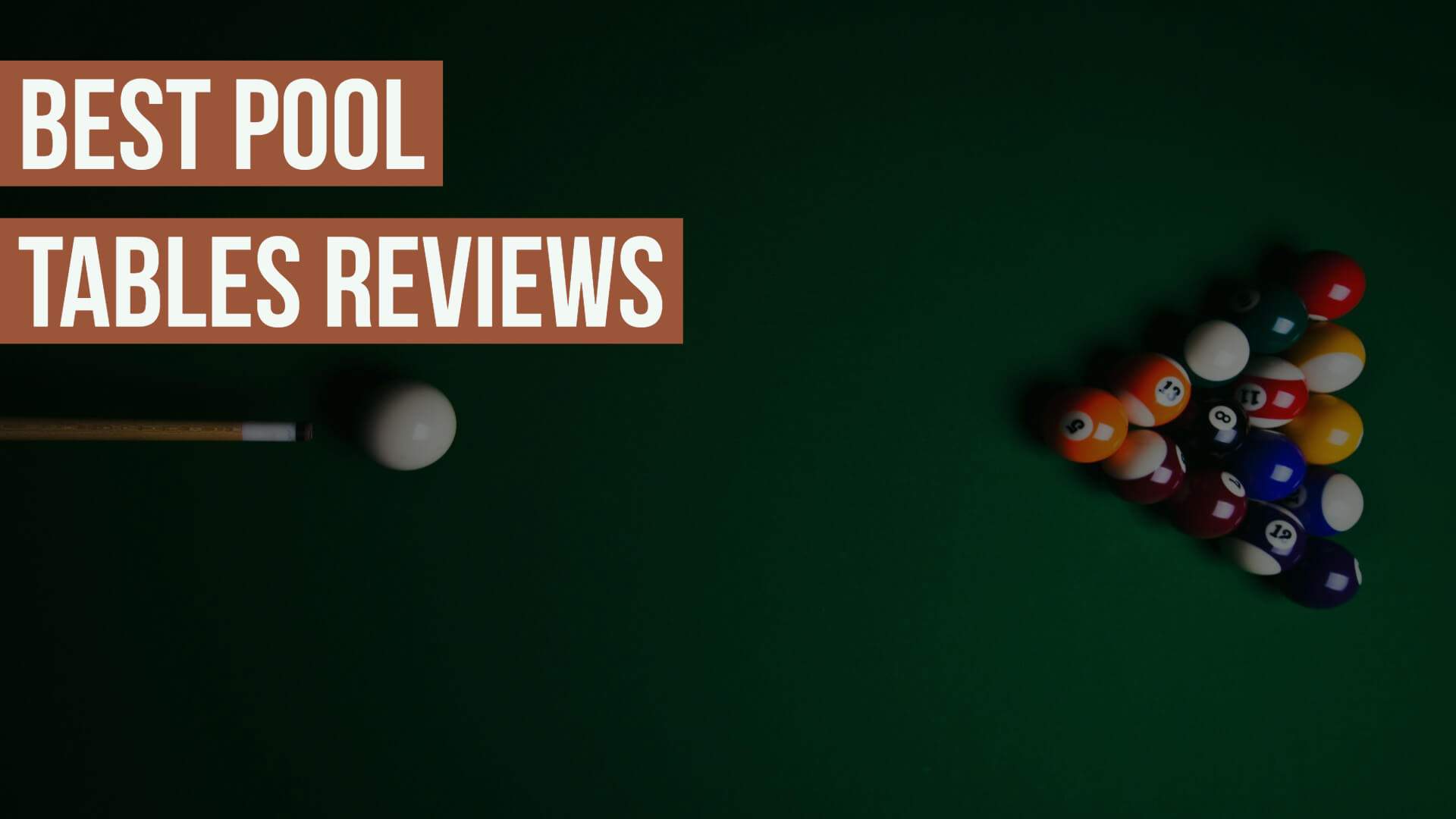 Best Pool Tables Reviews