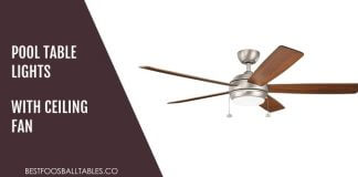Choosing Pool Table Lights with Ceiling Fan