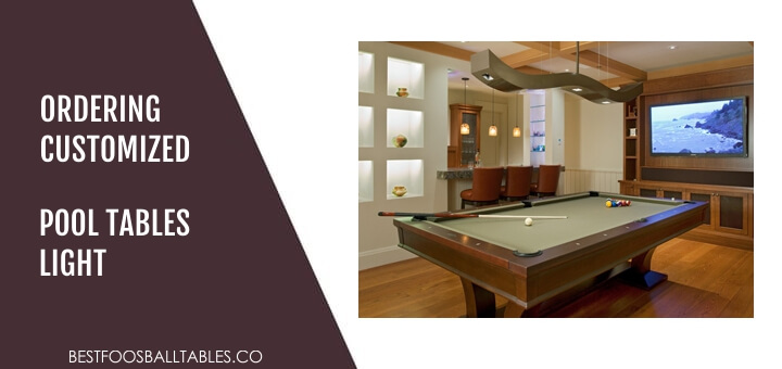 Ordering Customized Pool Table Lights