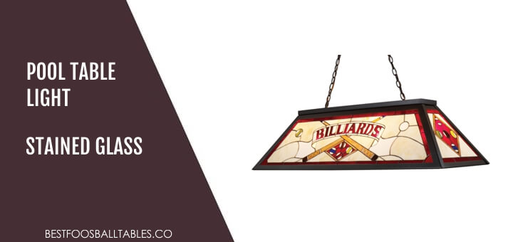 Pool Table Light Stained Glass Lampshades